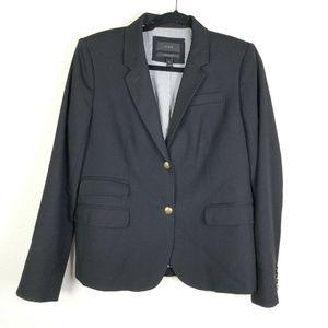 J. CREW 100% Wool Schoolboy Blazer Black Jacket 12